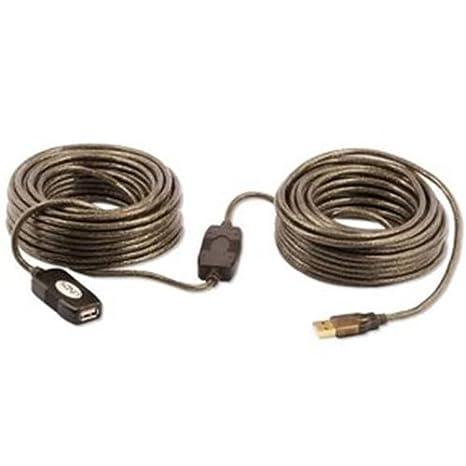 Amazon.com: Lindy – Cable de extensión USB 2.0 de 20 metros ...