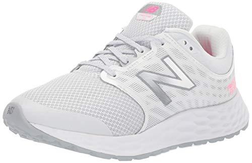 (New Balance Women's 1165v1 Fresh Foam Walking Shoe, Grey/White/Pink glo, 6.5 D US)