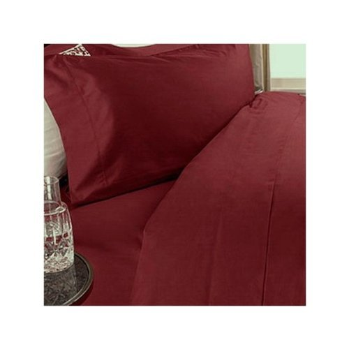 1000 Thread Count Three (3) Piece California King Size Burgundy Solid Duvet Cover Set, 100% Egyptian Cotton, Premium Hotel Quality