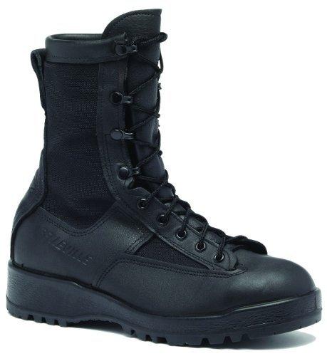 Belleville Men's Waterproof Steel Toe Black Leather Boot 055R - stylishcombatboots.com