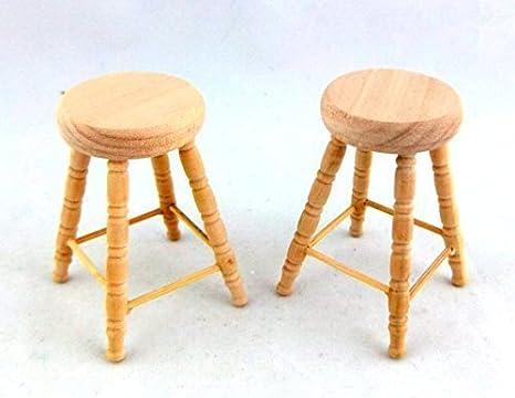 Miniatura per casa delle bambole 1:12 mobili in scala 2 grezzo legno