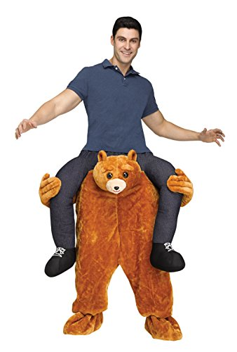 Fun World Men's Carry Me Teddy Bear Adult Cstm, Multi, Standard -