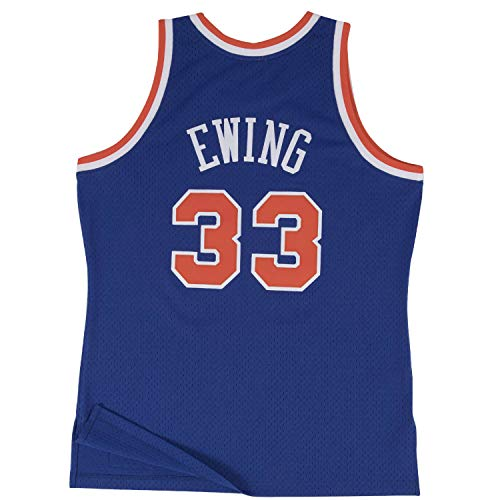 Mitchell & Ness Patrick Ewing New York Knicks NBA Throwback HWC Jersey - Blue (X-Large) Authentic Throwback Blue Jersey