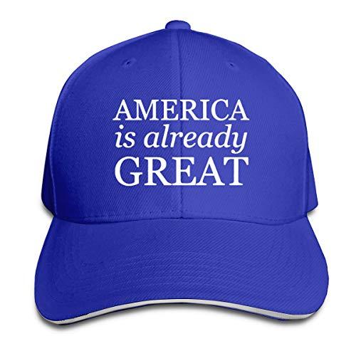 America is Already Great Adjustable Baseball Cap Unisex Dad Hat Sandwich Caps Blue
