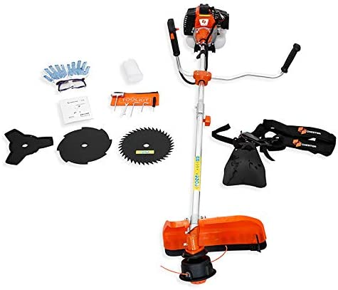 Chester Petrol Brush Cutter Grass Trimmer 52 CC - 3 Blades + 1 Bump Feed Trimmer Head