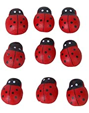 Kingken - Adhesivo decorativo para manualidades, 100 unidades, tamaño pequeño, diseño de esponja de béisbol (rojo)