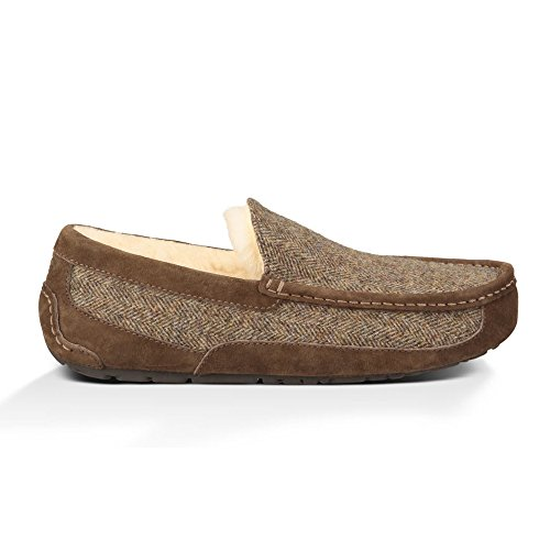 UGG Men's Ascot Tweed Stout Wool Slipper 8 D (M) (Ascot Slipper)