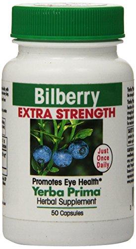Yerba Prima Bilberry Extra Strength, 50-Count