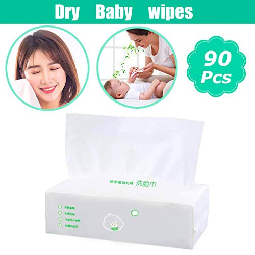 - Soft Dry Baby Wipes, Dry Cotton Wipes for Baby's Delicate Skin Care - Facial Cotton Tissues for Sensitive Skin Portable 1 Packs 90 Count