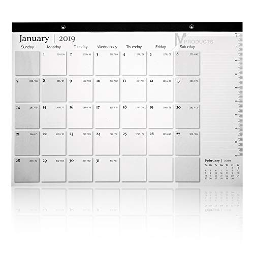 Desk Pad Calendar 2018-2019 w/Planner Stickers – Academic Monthly 2019 Wall Calendar Weekly Planner Pad | 17 Months | Large Calendars for Office, Family