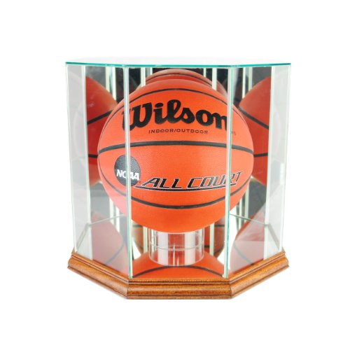 - Perfect Cases NBA Octagon Basketball Glass Display Case, Walnut
