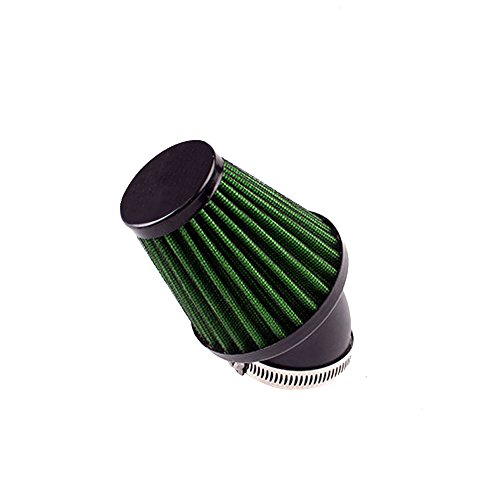 MeiBoAll Motorcycle Air Filters Replacement Clamp-on Air Filter Mushroom Head Cleaner for Scooter Minibike 1 Pcs Green 42mm