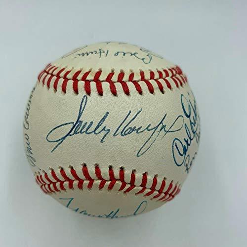 Sandy Koufax Pee Wee Reese Brooklyn Dodgers Legends Multi Signed Baseball - PSA/DNA Certified - Autographed Baseballs