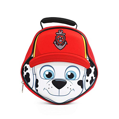 Nickelodeon Paw Patrol Marshall Red Die Cut Lunch Kit with top handle carry