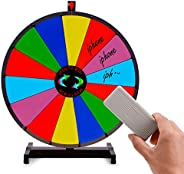 T-SIGN 24 Inch Heavy Duty Prize Wheel Spinning, Tabletop 14 Slots Color Prize Wheel Spinner with Dry Erase Mar