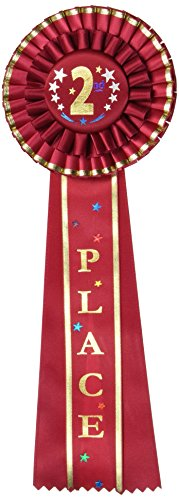 (Beistle RD11 2nd Place Deluxe Rosette, 41/2 by 131/2-Inch )