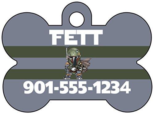 uDesignUSA Disney Star Wars Boba Fett Pet Id Dog Tag Personalized w/Name & Number]()