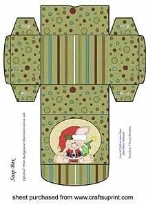 Verde Navidad conejo de jabón caja 3por Sharon Poore