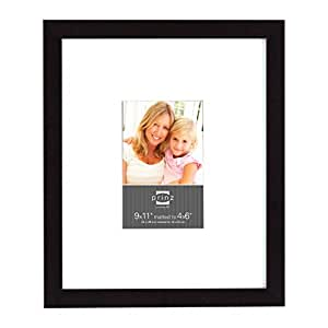 Prinz 9 by 11-Inch Wide Matted to 4 by 6-Inch Gallery Expressions Frame in Black Finish