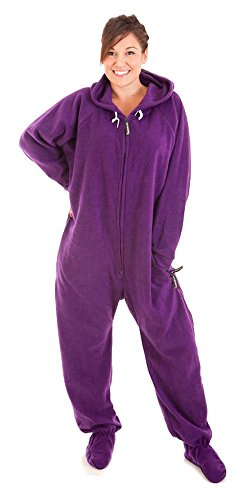 Forever Lazy Footed Adult Onesie - Purple People Sleeper - XXS