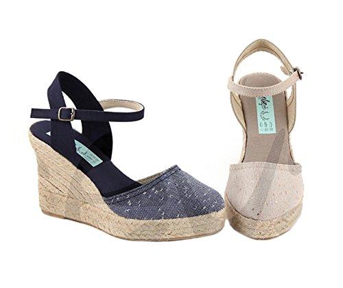 Amelie 1007 - Zapato Señora Piel - 40, Beis
