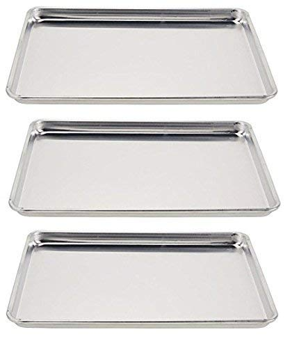 Vollrath 5303 Wear-Ever Half-Size Sheet Pans, Set of 3 (18-Inch x 13-Inch, Aluminum) by Vollrath