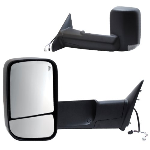 1500 A/c System - Fit System 60183-84C Replacement Heated Towing Mirror with Turn Signal - Pair