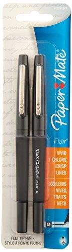 Paper Mate Flair Felt Tip Pens, Medium Point, 12-Count, Black