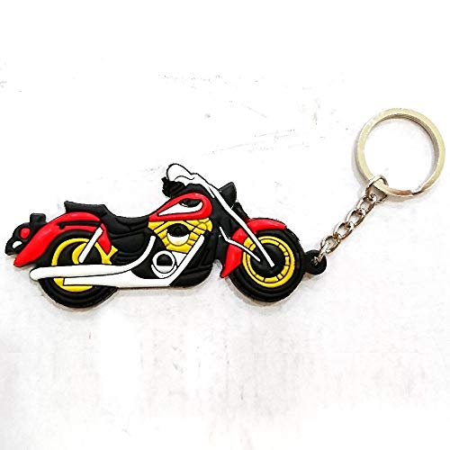 Motorcycle Soft Rubber Keychain For Aftermarket Universal Vehicle Car Motorcycle Bike Accessories For Example Chopper Sport Bike Street Bike Cruiser Bobber Clubman Rider Enthusiasts Collection