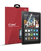 iCarez [HD Clear] Screen Protector for Amazon Kindle Fire HDX 8.9 [ Unique Hinge Install Method with Kits ] Easy Install with Lifetime Replacement Warranty [2 Pack] - Retail Packaging