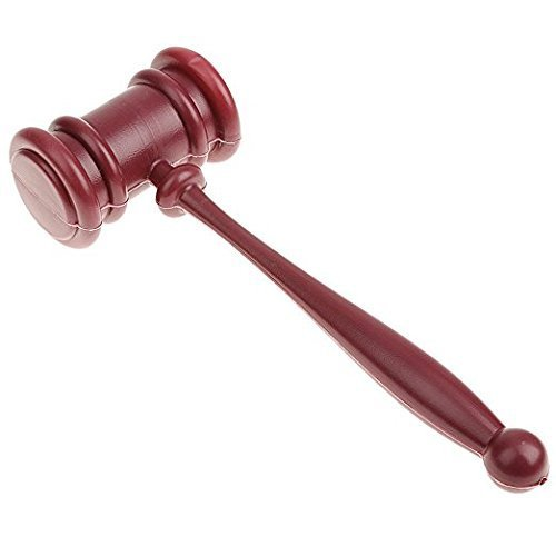 EBTOYS Gavel Hammer Prop Novelty Accessory for Halloween