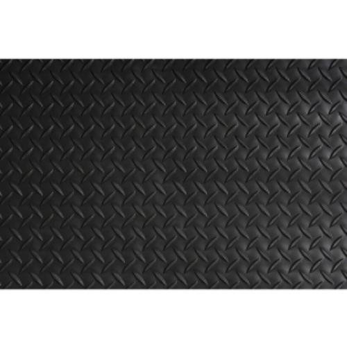 Crown - Industrial Deck Plate Anti-Fatigue Mat, Vinyl, 24 x 36, Black - Sold As 1 Each - Helps reduce the risk of falling.