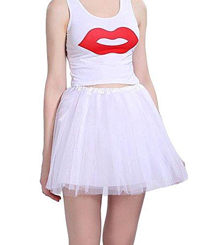 COCOPLAZA Women's Classic 3-Layered Tulle Tutu Skirt Elastic Ballerina Costume Party Dance Dress -