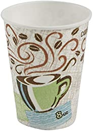 Dixie PerfecTouch 8 oz. Insulated Paper Hot Cup by GP PRO (Georgia-Pacific), Coffee Haze, 5338CD, 1,000 Count