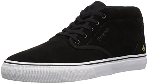 Emerica Men's Wino G6 MID Skate Shoe, Black/White/Gold, 9 Medium - Shoe Skate Top Mid