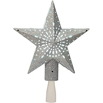Amazon Com Holiday Time 11 375 Inch Silver Star Tree