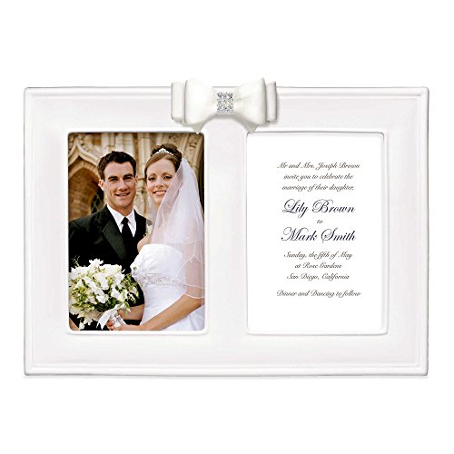 2-Photo 5X7 Porcelain Wedding Picture Frame With