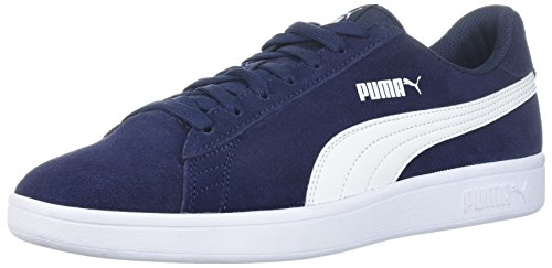PUMA Men's Smash v2 Sneaker peacoat-white 9 M US