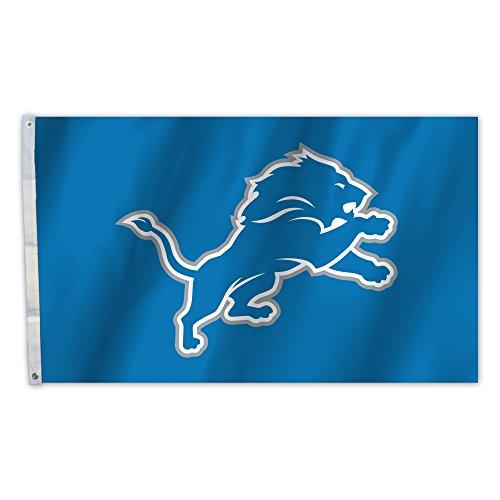 NFL Detroit Lions 3' x 5' Flag with Grommets, Blue ()