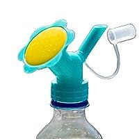 MyLifeUNIT Bottle Cap Sprinkler, Dual Head Bottle Watering Spout, Bonsai Watering Can for Indoor Seedlings