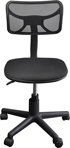 Urban Shop Swivel Mesh Task Chair, Black