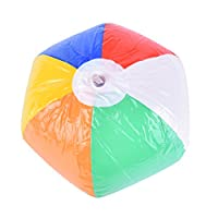 Haodeba 1 Pc Colored Children Plastic Inflatable Beach Ball Sport Toys Pool Party