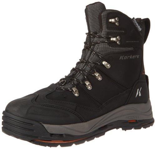 Korkers Footwear Men's SnowJack Snow Boot Black