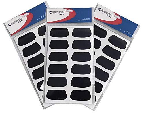 Cannon Sports Eye Black Stickers (Black, 18 Pair) ()
