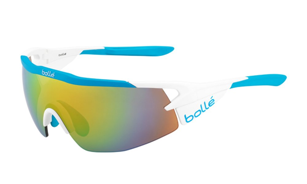 Bolle Aeromax Sunglasses Matte White/Blue, Multi by Bolle (Image #1)