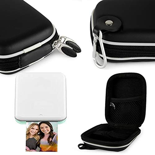 (Soft Shelled Travel Pod Carrying Case [Black] for Canon Ivy/HP Sprocket and HP Sprocket 2nd Edition/Polaroid Mint Portable Mini Instant Photo Printer)
