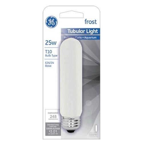 25w T10 Incandescent Bulb (GE Lighting 45513 25-Watt 248-Lumen Specialty T10 Incandescent Light Bulb, White)