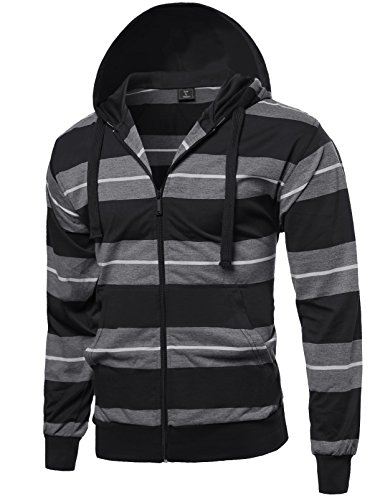 Casual Stripe Pocket Hoodie Jacket product image
