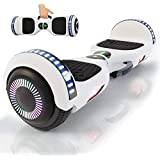 yayGear Hoverboard Self Balancing Scooter UL 2272 Certified with Powerful Bluetooth Speaker, Cool LED Lights and Easy Carrying Handle (Ivory White)