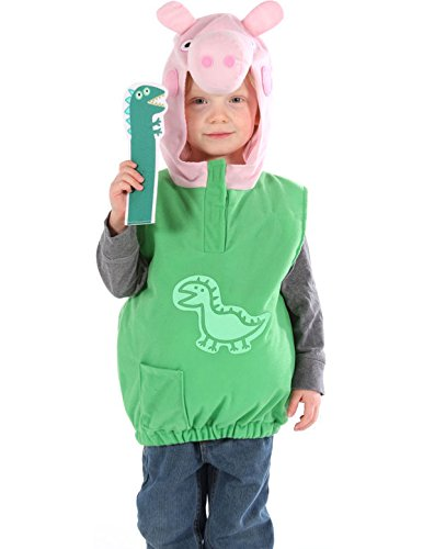 [George Dino Peppa Pig Dress Up Outfit Fancy Dress Costume 2/4 YEARS] (Peppa Pig Costume George)